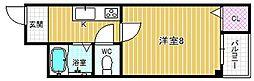 ツリガミ海老江ツインビルII[1階]の間取り