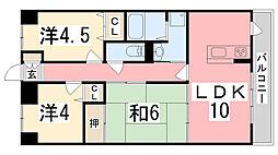 ネオハイツ姫路・花北館[103号室]の間取り