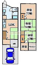 [テラスハウス] 大阪府堺市東区南野田 の賃貸【/】の間取り