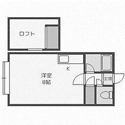ノ・エール前田[205号室]の間取り