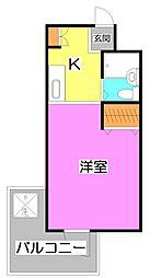 埼玉県富士見市羽沢1丁目の賃貸マンションの間取り
