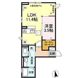 D-room橋本3丁目[103号室]の間取り