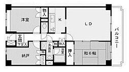 ベルフォーレ新百合ヶ丘[1階]の間取り
