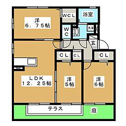 ソレーユ日進栄[1階]の間取り