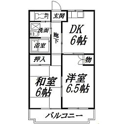 静岡県浜松市南区新橋町の賃貸マンションの間取り