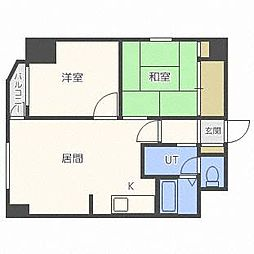 北海道札幌市白石区菊水二条3丁目の賃貸マンションの間取り