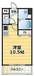 メルベーユ高井田[3階]の間取り