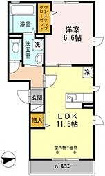 スクエアプレイス天王寺東B[3階]の間取り