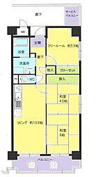ボヌール鶴見II番館[3階]の間取り