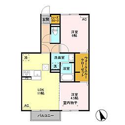 (仮)D−room富士見町 A棟[103号室]の間取り