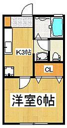 フロンテ秋津[1階]の間取り
