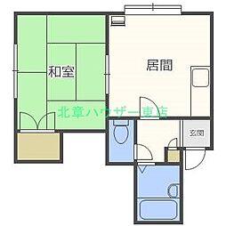 北海道札幌市東区北三十一条東12丁目の賃貸アパートの間取り