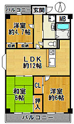ユマニティマンション[4階]の間取り