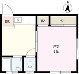 コーポ村田[101号室]の間取り