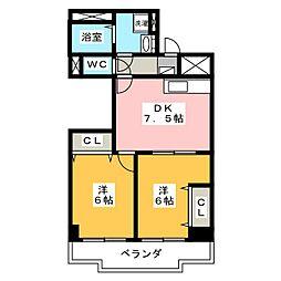 シャトーあおみ[3階]の間取り