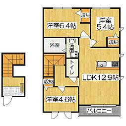 アウリンコ円面田[2階]の間取り