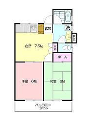ハウス荏田B[1階]の間取り