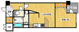 JR東西線 御幣島駅 徒歩11分の賃貸マンション 3階1LDKの間取り