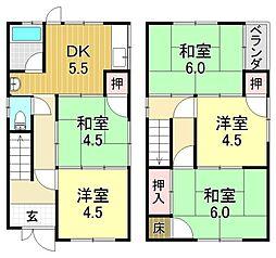 [一戸建] 大阪府大阪市平野区喜連2丁目 の賃貸【/】の間取り