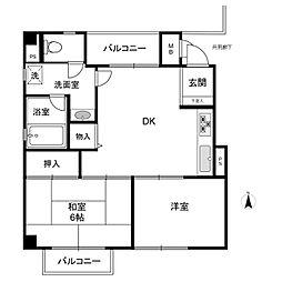 佐竹マンション[4階]の間取り
