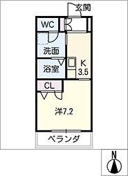 Noble Court東別院[2階]の間取り