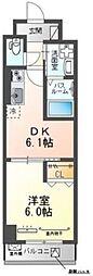 東京メトロ丸ノ内線 後楽園駅 徒歩10分の賃貸マンション 2階1DKの間取り
