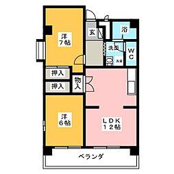 クリエイションビル[2階]の間取り