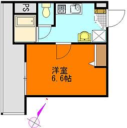 メゾンクレール船越[102号室]の間取り