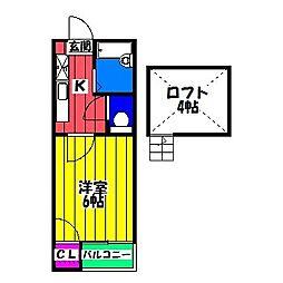 十二九 竹下館[1階]の間取り