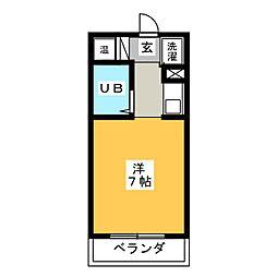 渡辺第1ビル[3階]の間取り