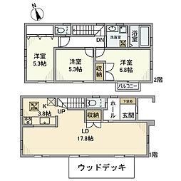 [一戸建] 神奈川県横浜市港北区大曽根3丁目 の賃貸【/】の間取り
