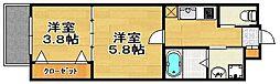ギャラン 御供所町[2階]の間取り