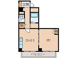 シティガーデン新通[4階]の間取り