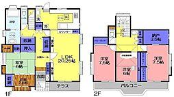 [一戸建] 千葉県八千代市緑が丘1丁目 の賃貸【/】の間取り