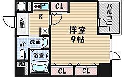 大阪府大阪市西区新町4丁目の賃貸マンションの間取り