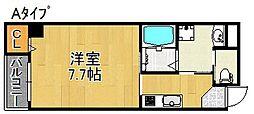 L'ecrin KISINOSATOHIGASI[5階]の間取り