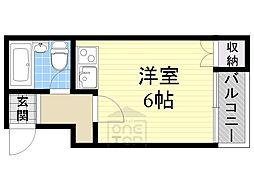 富尾マンション3階Fの間取り画像