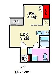 Branche平尾II[2階]の間取り