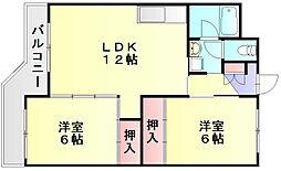 金堂ハイツ[1階]の間取り