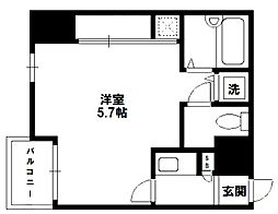 CityLifeディナスティ新大阪[4階]の間取り