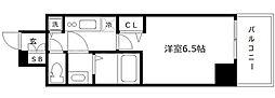 エス・キュート京町堀(旧プレサンス京町堀サウス) 13階1Kの間取り