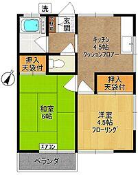 鎌田荘[2階]の間取り