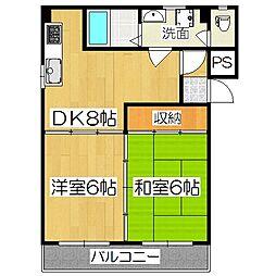 丸坂マンション[5階]の間取り