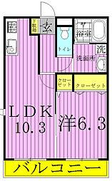 fortuna[B101号室]の間取り