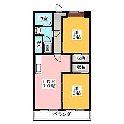 豊田ビル伊勢スカイマンション[2階]の間取り