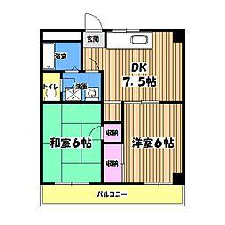 高倉ビル[4階]の間取り