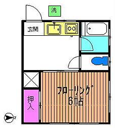 コーポ小坂[1階]の間取り