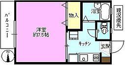 長野県長野市広田の賃貸アパートの間取り