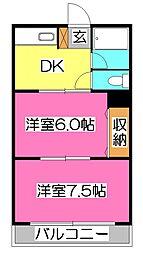 久米川レジデンス[3階]の間取り