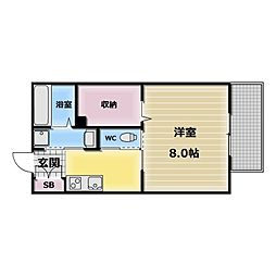 Calm Maison(カーム メゾン)[2階]の間取り